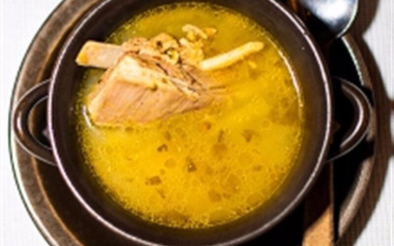 Суп из баранины со стручковой фасолью