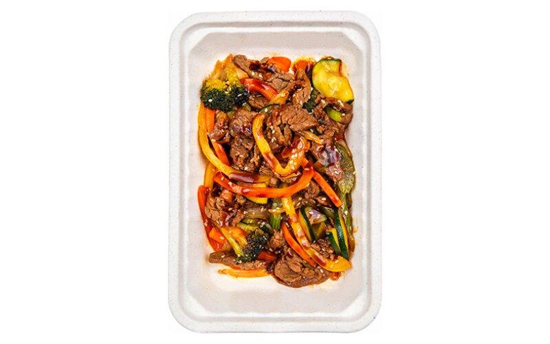 Овощи WOK с говядиной
