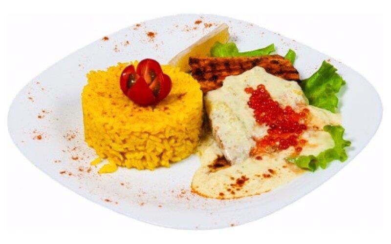 Лосось «По-царски» с рисом