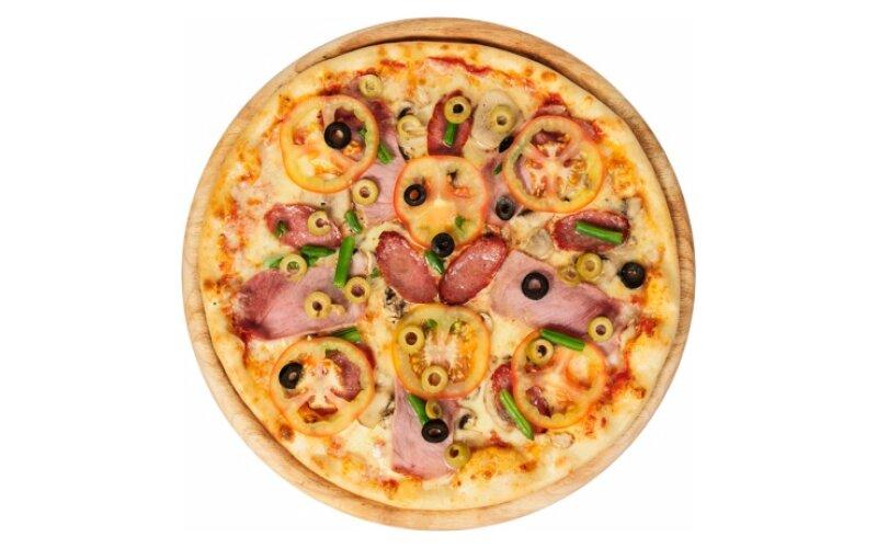 Пицца с салями и свининой