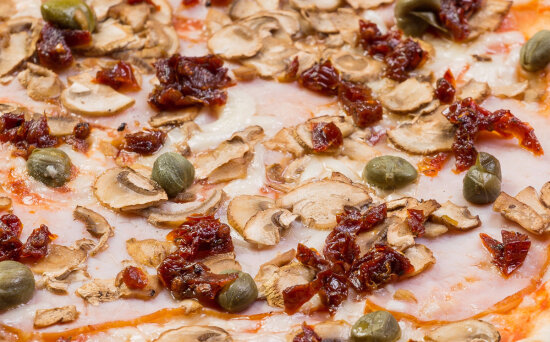 Пицца «Италия» на пышномтесте