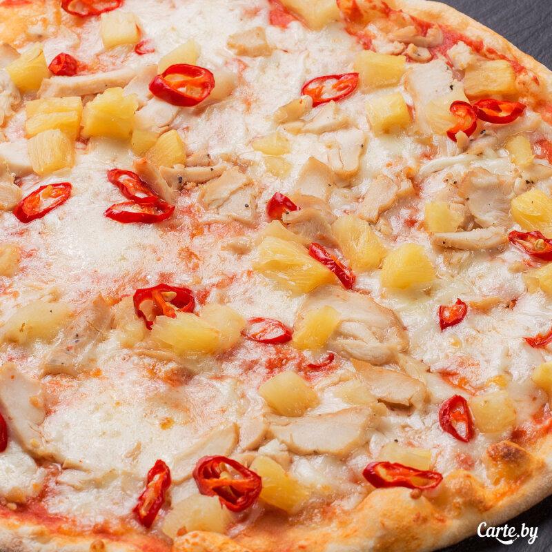 Пицца «Гавайская» с цыплёнком