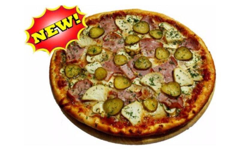 Пицца с ветчиной и курицей