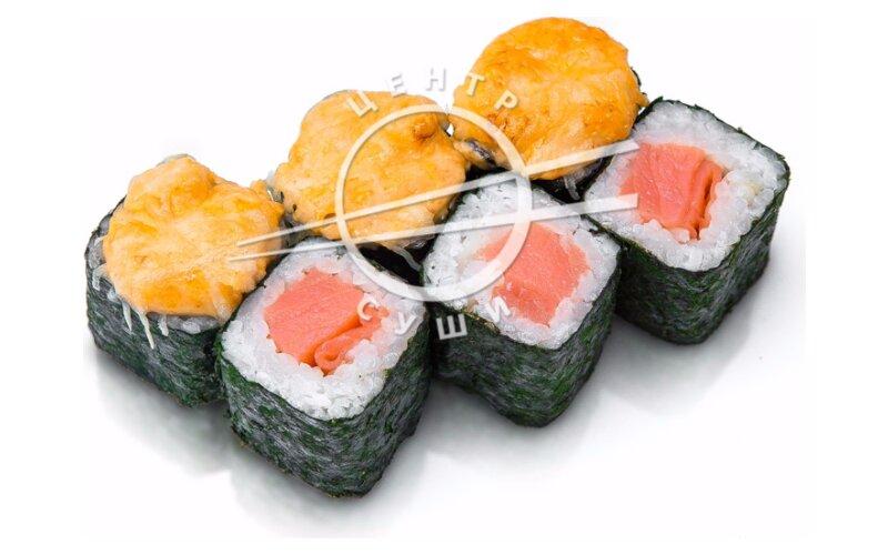 Запечённый ролл с лососем
