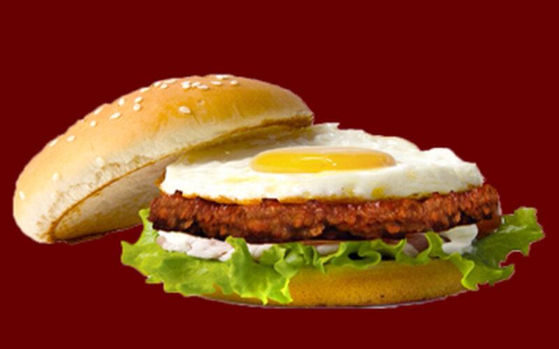 «Бургер хаус» с говядиной и яйцом