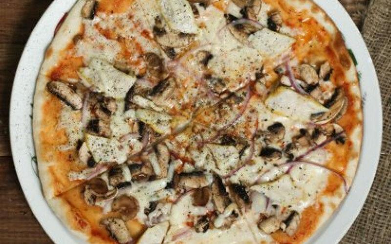 Пицца «Грибная с индейкой»