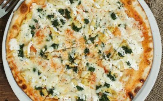 Пицца «Сливочная со шпинатом»
