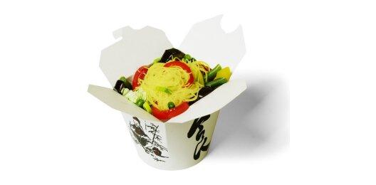 Лапша яичная с овощами