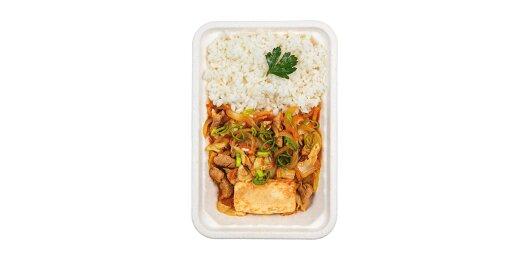 Кимчи со свининой и сыром «Тофу»