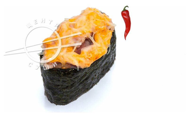 Запечённые суши с цыплёнком