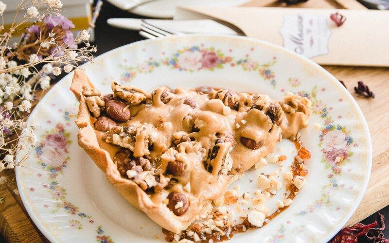 Карамельно-ореховый тарт