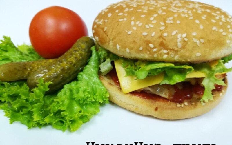 Бургер «Чикенчиз-гриль»