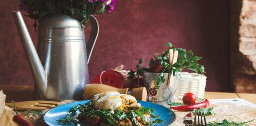 Филе куриное, запечённое с сыром «Моцарелла» и стручковой фасолью