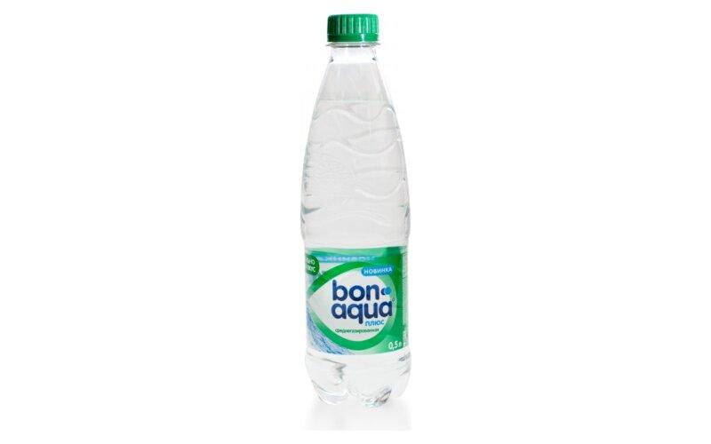 Вода питьевая «BonAqua» среднегазированная