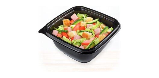 Салат «Цезарь» с чесночным соусом