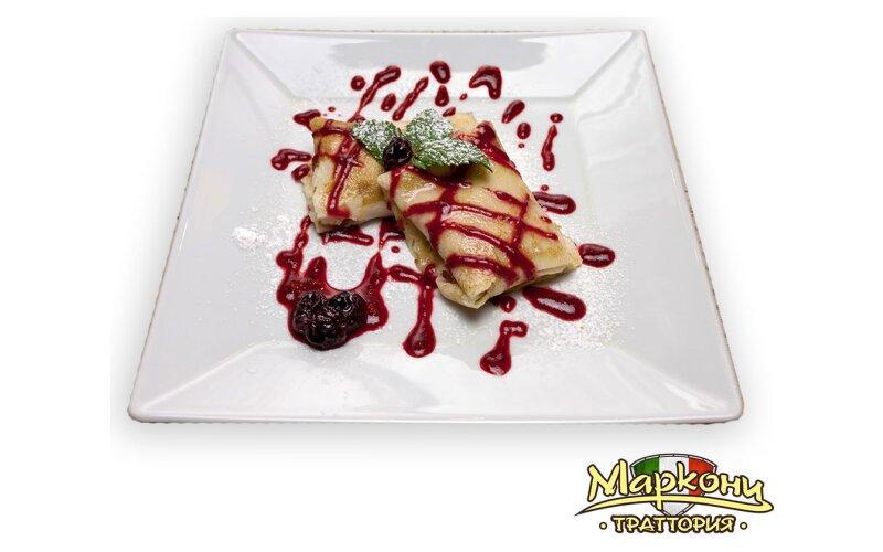 Блины с сыром «Маскарпоне» и ягодами