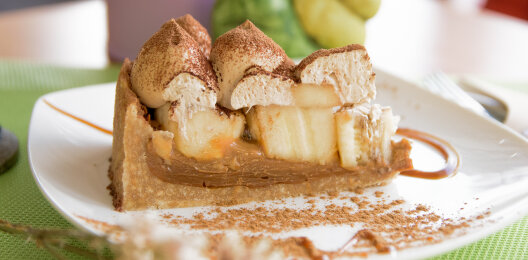 Десерт «Баноффи пай» с бананом