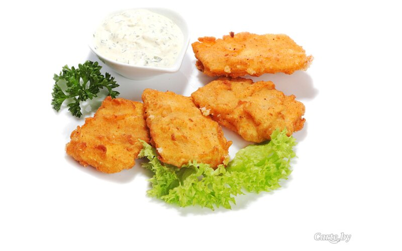 Сыр смажаны с соусом «Тар-тар»