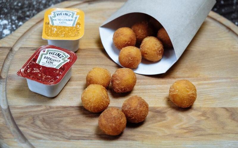 Картофельные шарики + соус чесночный