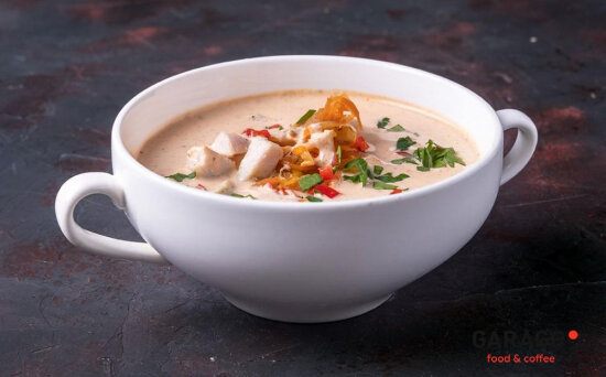 Суп «Том кха»с курицей