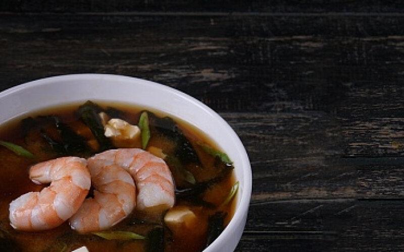 Суп «Мисо эби»