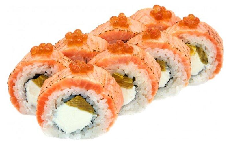 Ролл с лососем и апельсином