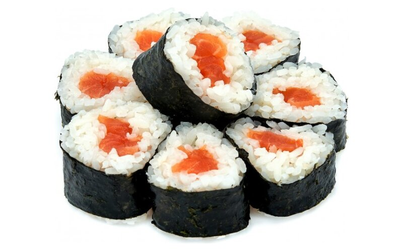 Ролл «Хосомаки» с лососем