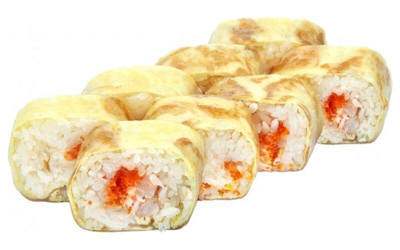 Ролл «Тамаго» в рисовой бумаге