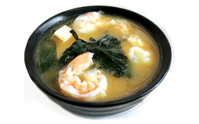 Суп «Мисо» с креветками