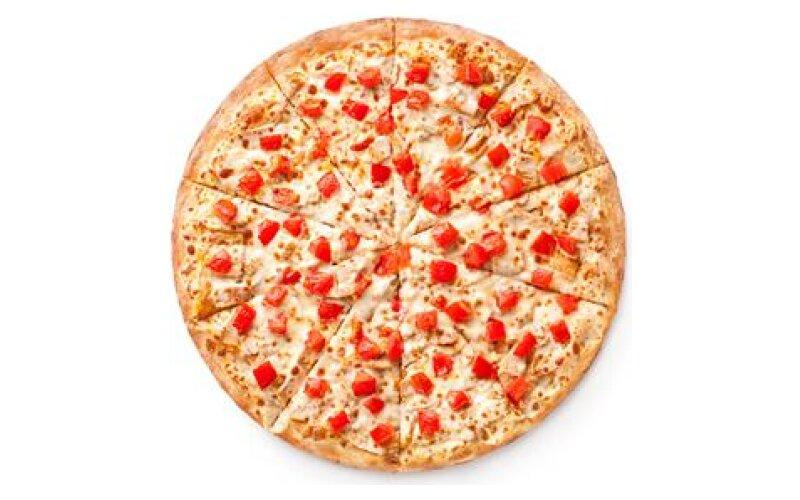 Пицца «Сырный цыплёнок» на тонком тесте