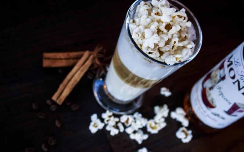Кофе «Латте-попкорн»