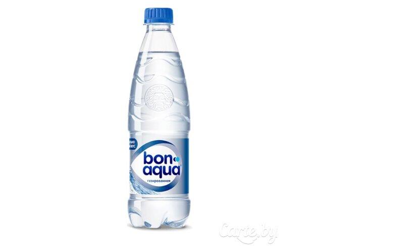 Вода «BonAqua» сильногазированная
