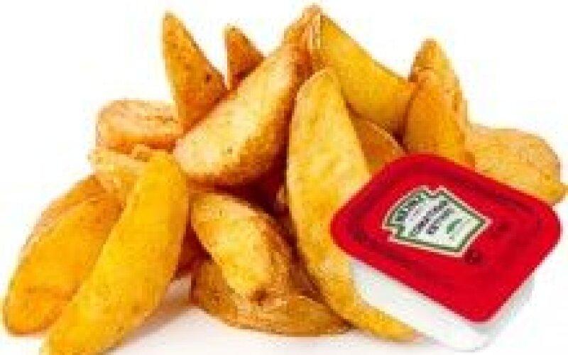 Картофельные дольки + соус чесночный