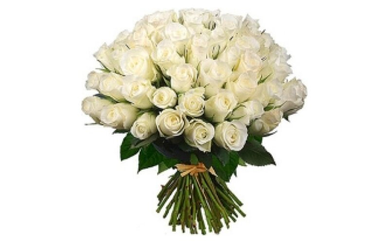 Букет «101 белая роза»