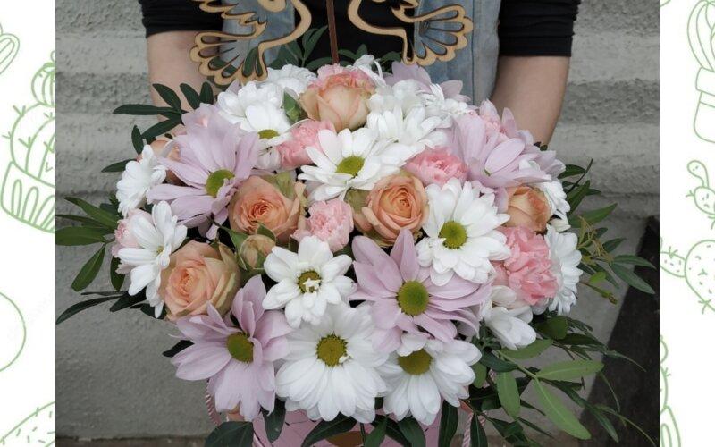 Коробка с цветами «Счастье»