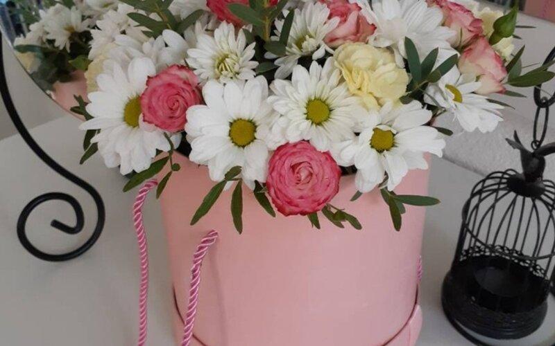 Коробка с цветами «Твой день»
