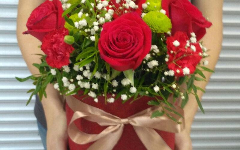 Коробка с цветами «Для тебя»