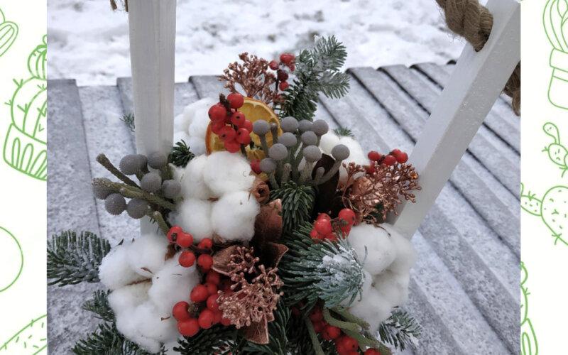 Ящик с цветами «Новый год»