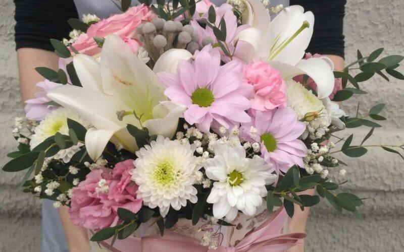 Коробка с цветами «Восхищение»
