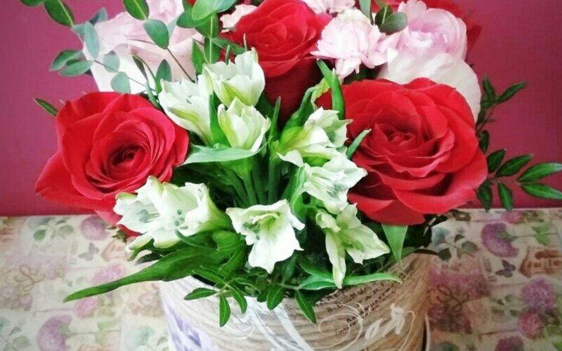 Коробка с цветами «Нежность»