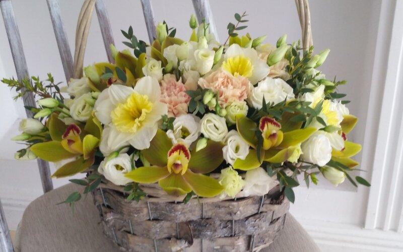 Корзина с цветами «Элитная»