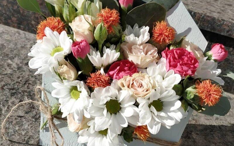Конверт с цветами «Тайное послание»