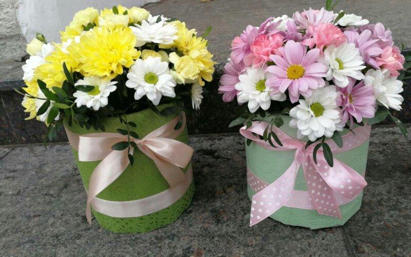 Коробка с цветами «Скромняга»