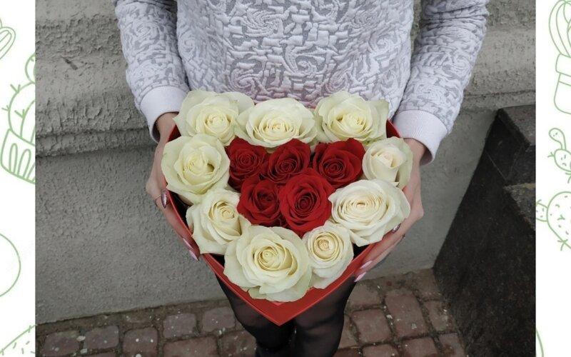 Коробка с розами «Сердце»