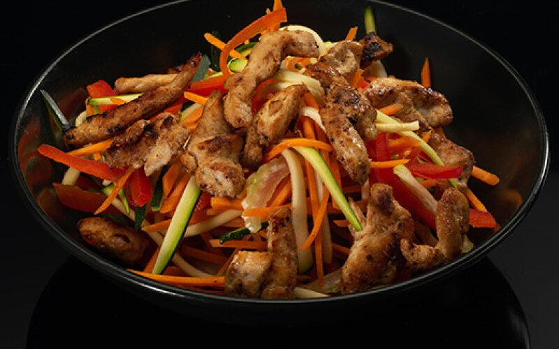 Рис с чернилами и курицей