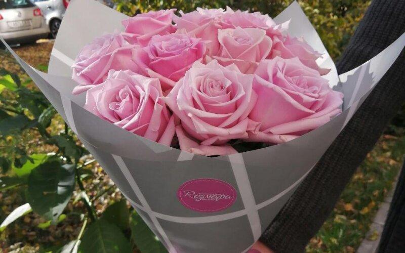 Букет «11 розовых роз»