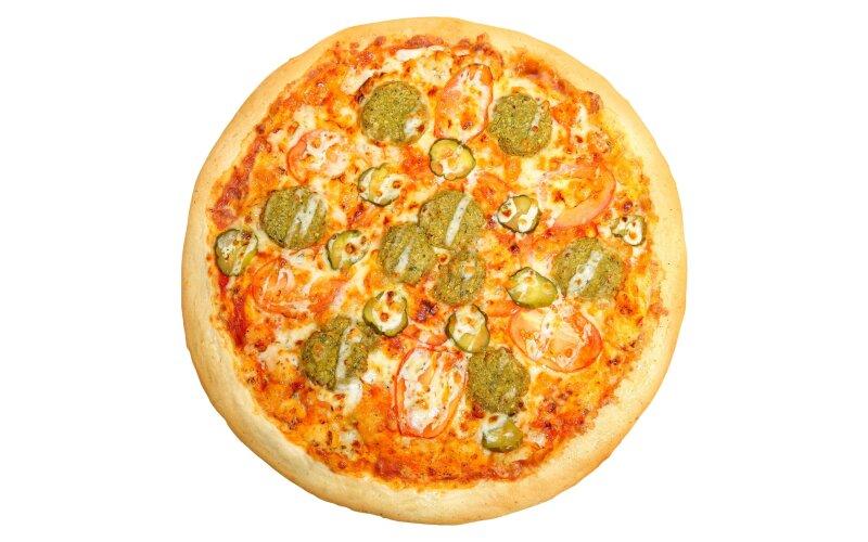 Пицца «Чесночная» с фалафелем