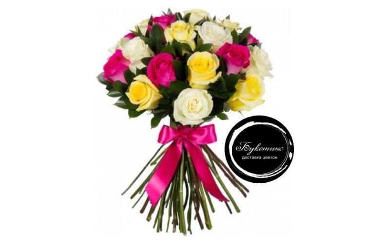 Букет «25 разноцветных роз»