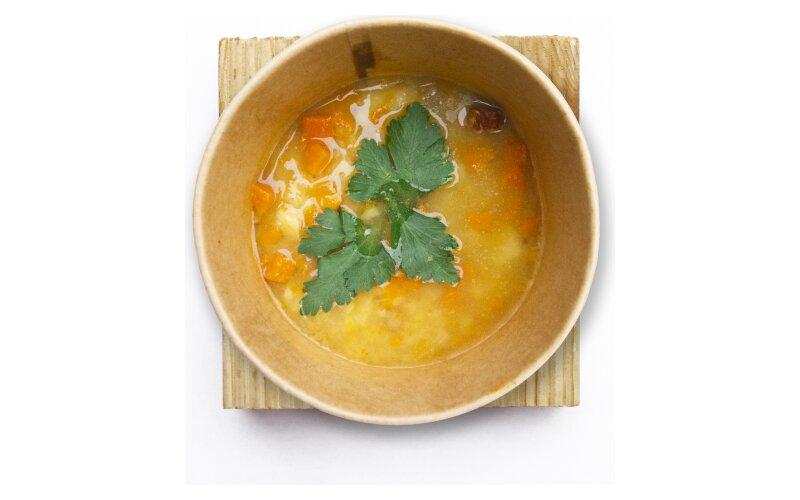 Гороховый суп с копчёными рёбрами