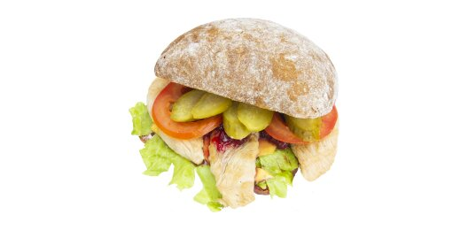 Сэндвич с индейкой и брусничным соусом